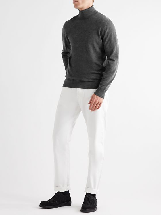 MR P. Slim-Fit Merino Wool Rollneck Sweater