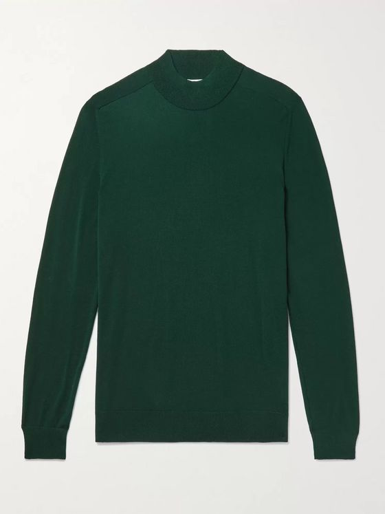 Mr P. Merino Wool Mock-Neck Sweater
