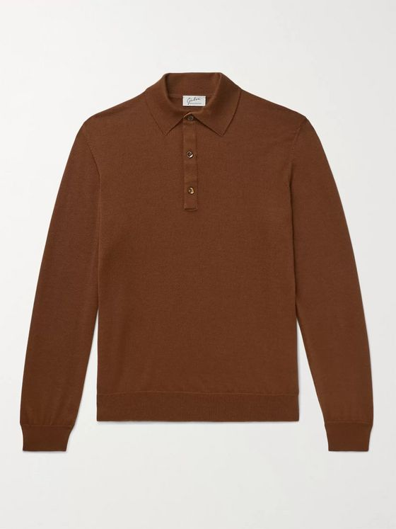 Giuliva Heritage Tancredi Cashmere and Silk-Blend Polo Shirt