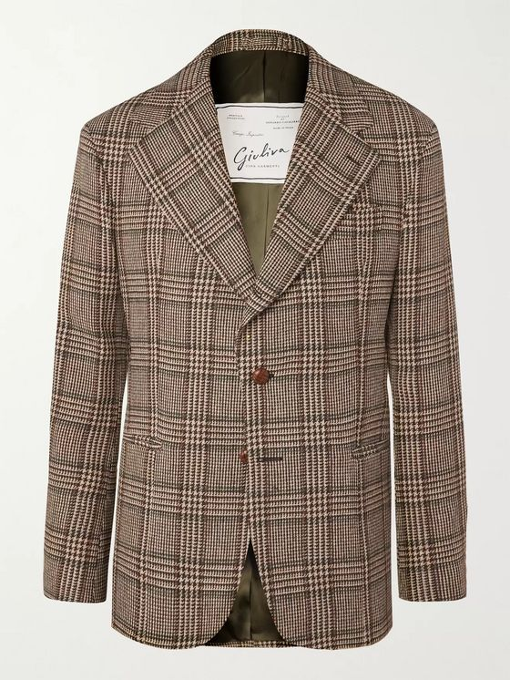 Giuliva Heritage Alfonso Prince of Wales Checked Virgin Wool Blazer