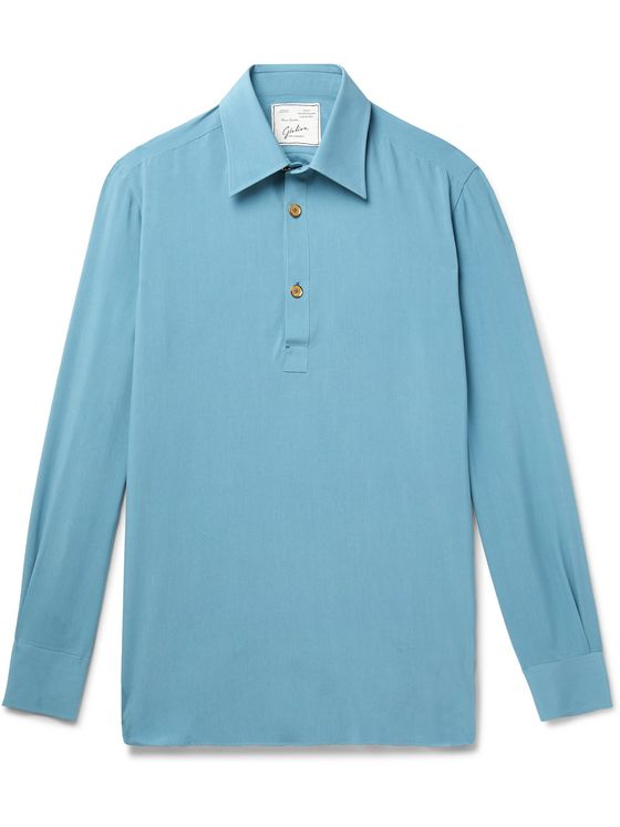 Giuliva Heritage Dario Washed-Silk Polo Shirt