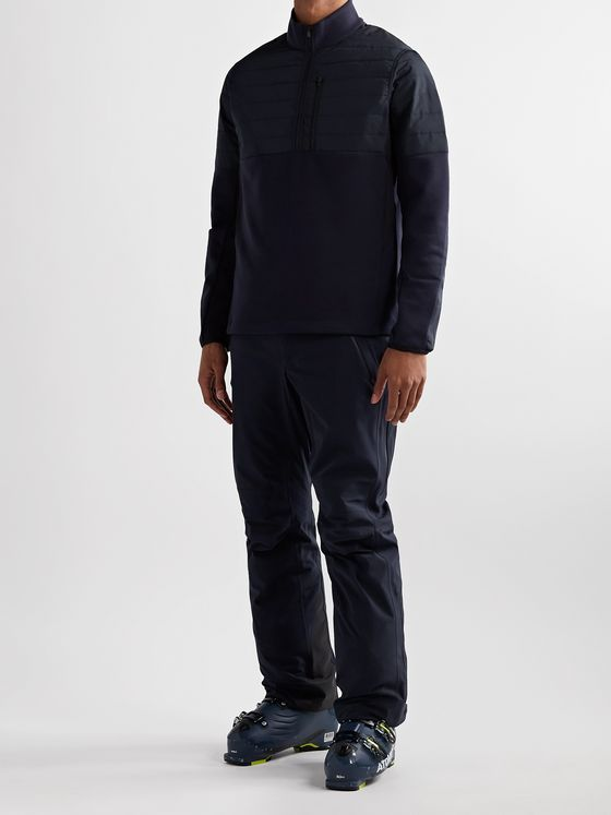 Aztech Mountain Team Aztech Quilted Panelled Stretch-Tech Fleece Half-Zip Sweatshirt