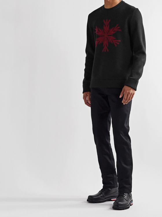 Aztech Mountain Snowflake-Intarsia Merino Wool Sweater