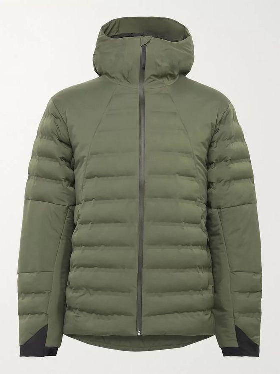 Aztech Mountain Pyramid Padded Quilted Hooded Ski Jacket