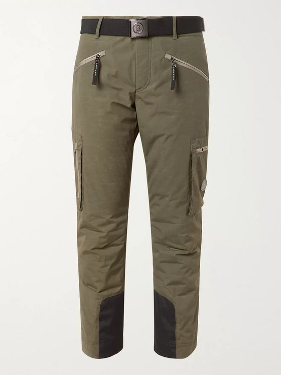 Bogner Cortez Grosgrain-Trimmed Padded Cotton-Blend Canvas Ski Trousers