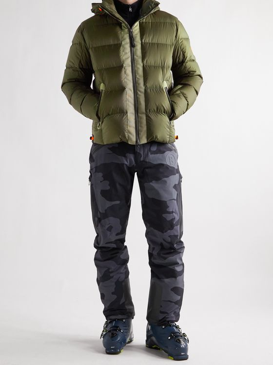 Bogner Elvin-D Quilted Ripstop Down Hooded Ski Jacket