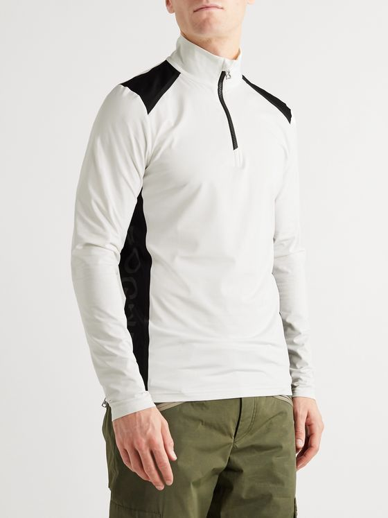Bogner Tarry Slim-Fit Logo-Print Stretch-Jersey Half-Zip Base Layer