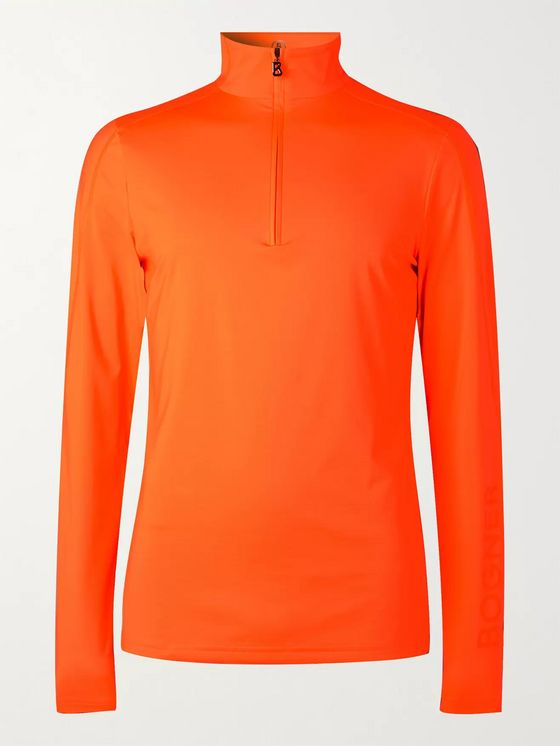 Bogner Harrison Slim-Fit Stretch-Jersey Half-Zip Ski Base Layer