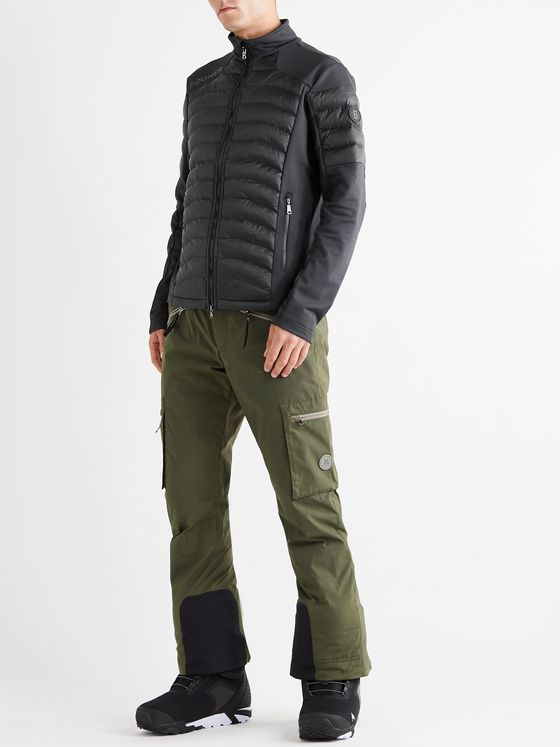 Bogner Corrado Panelled Stretch-Jersey and Quilted Shell Mid-Layer