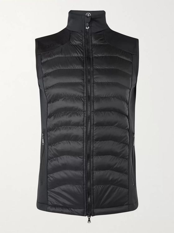 Bogner Carson Panelled Stretch-Jersey and Quilted Shell Gilet
