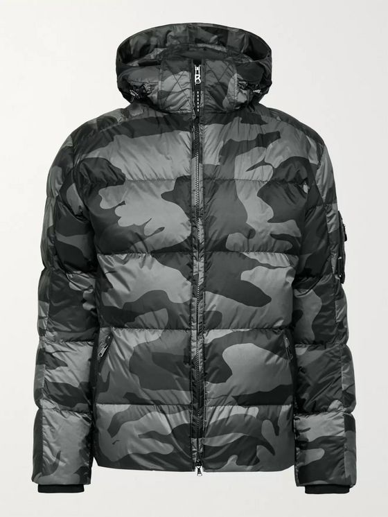 Bogner Simon 2-D Quilted Camouflage-Print Down Hooded Ski Jacket