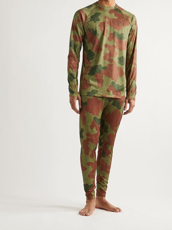 Burton [ak] Helium Slim-Fit Camouflage-Print Polartec Power Grid Ski Base Layer