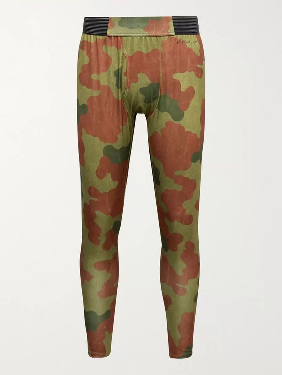Burton [ak] Helium Camouflage-Print Polartec Power Grid Ski Base-Layer Tights