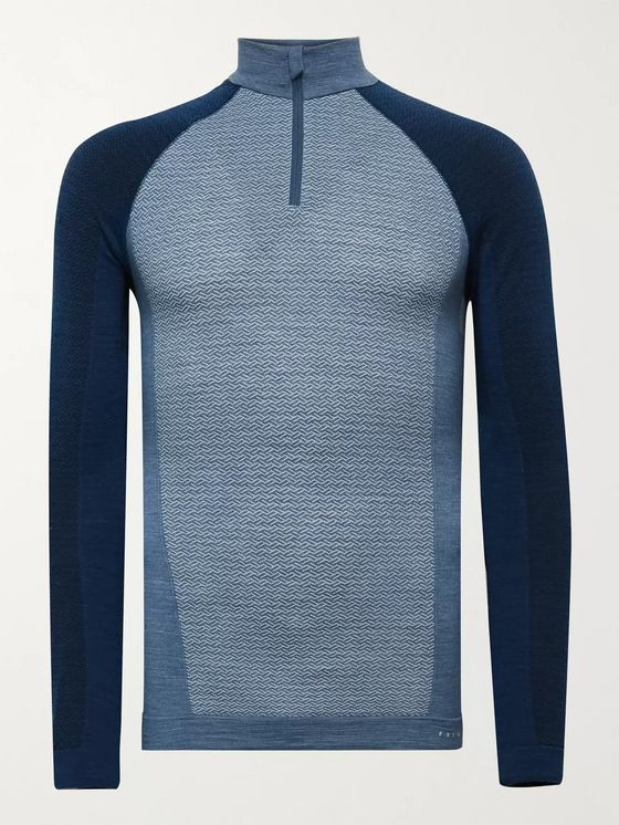FALKE Ergonomic Sport System Panelled Stretch Virgin Wool-Blend Ski Base Layer