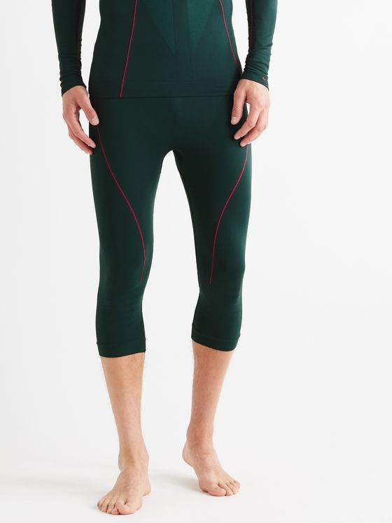 FALKE Ergonomic Sport System Warm 3/4 Cropped Stretch-Jersey Ski Tights