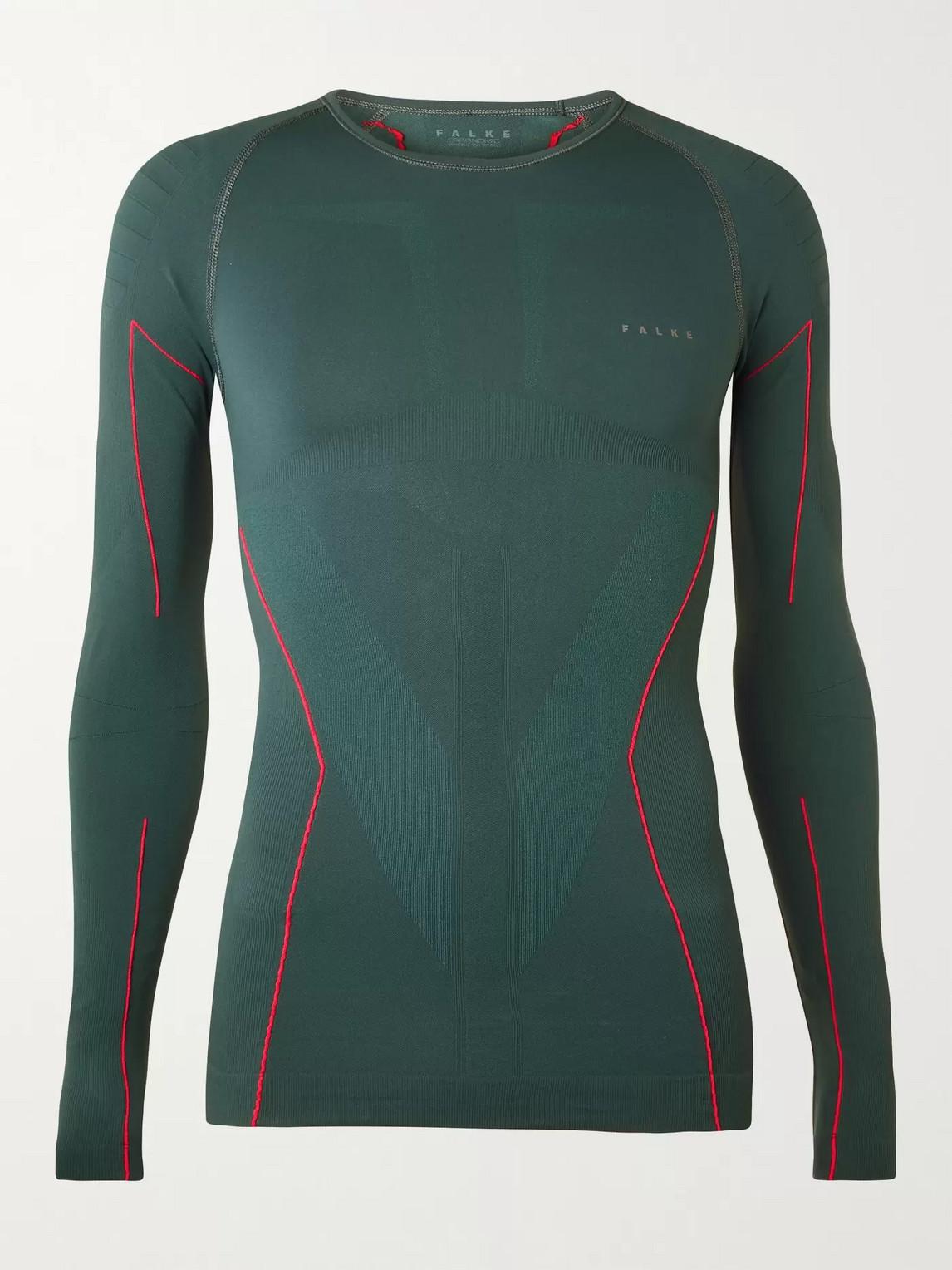 falke ergonomic sport system - stretch-jersey t-shirt - men - green