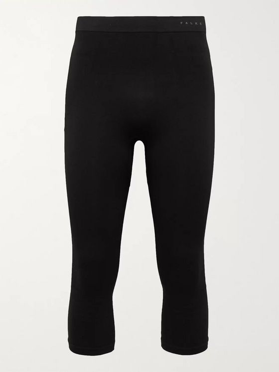 FALKE Ergonomic Sport System Maximum Warm Stretch Tech-Jersey Ski Tights