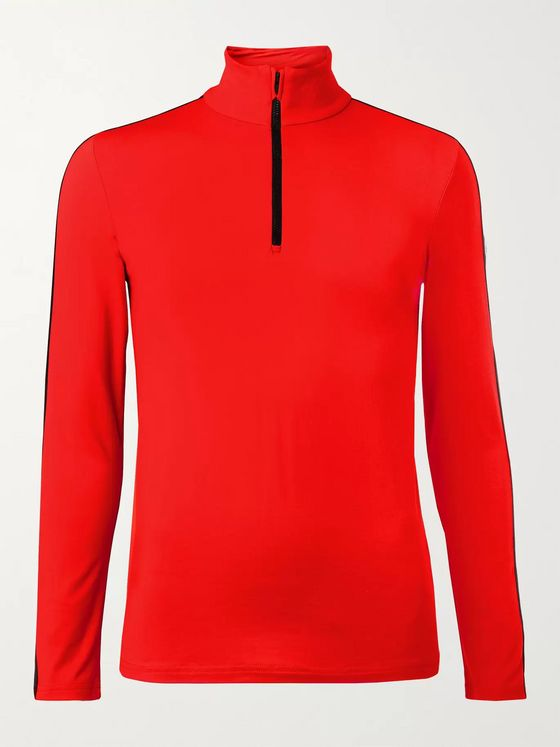 FUSALP Alpilles III Striped Stretch-Jersey Half-Zip Ski Base Layer