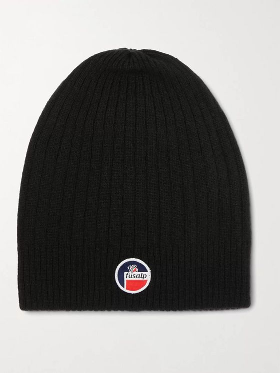 FUSALP Softy III Logo-Appliquéd Ribbed Merino Wool and Cashmere-Blend Ski Beanie