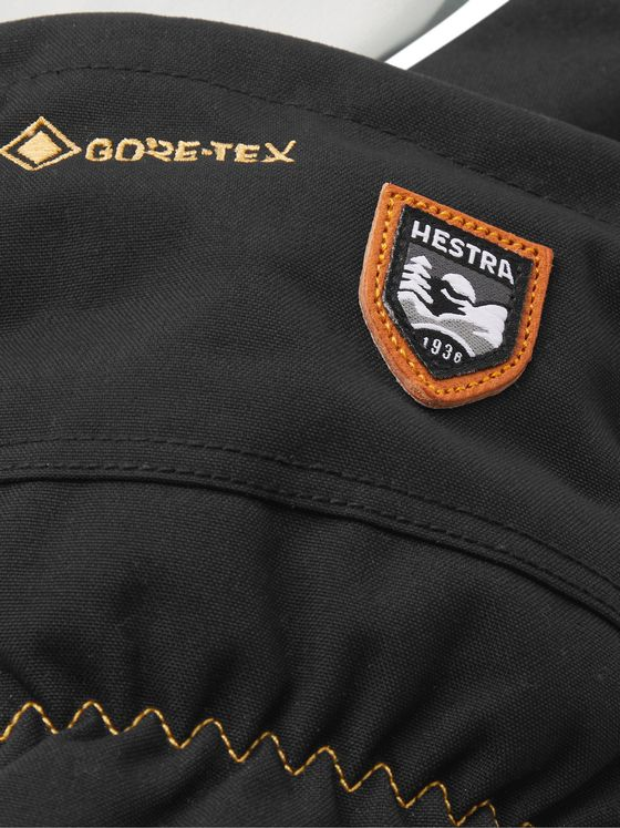 HESTRA Army Leather and Triton Canvas GORE-TEX Mittens