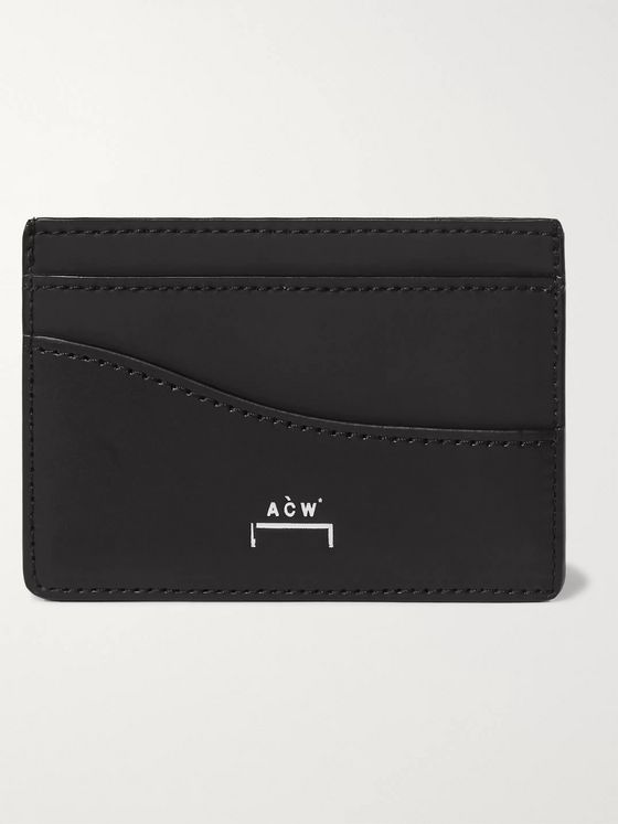 A-COLD-WALL* Logo-Print Leather Cardholder