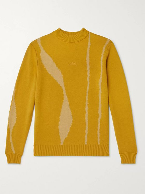 A-COLD-WALL* Logo-Embroidered Intarsia Wool Sweater