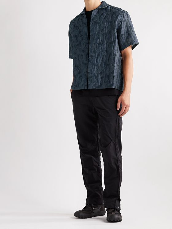 A-COLD-WALL* Camp-Collar Organza-Jacquard Shirt