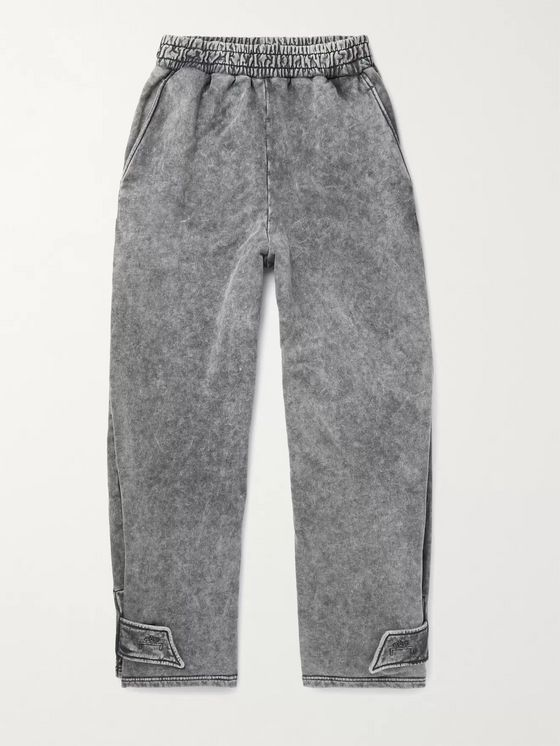 A-COLD-WALL* Acid-Washed Loopback Cotton-Jersey Sweatpants