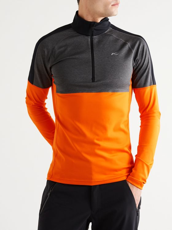 Kjus Race Colour-Block Stretch-Jersey Half-Zip Ski Mid-Layer
