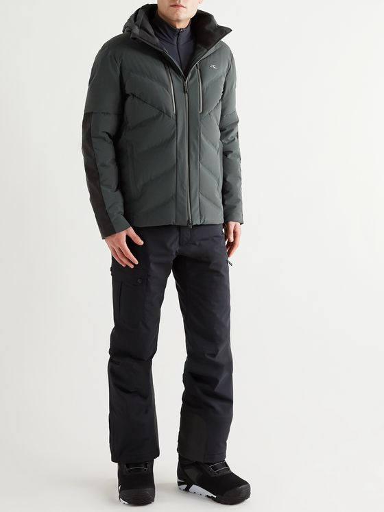 Kjus Linard Wool-Blend Felt-Panelled Quilted Down Ski Jacket
