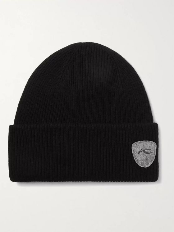 Kjus Truckstop Logo-Appliquéd Ribbed Wool, Yak and Cashmere-Blend Beanie