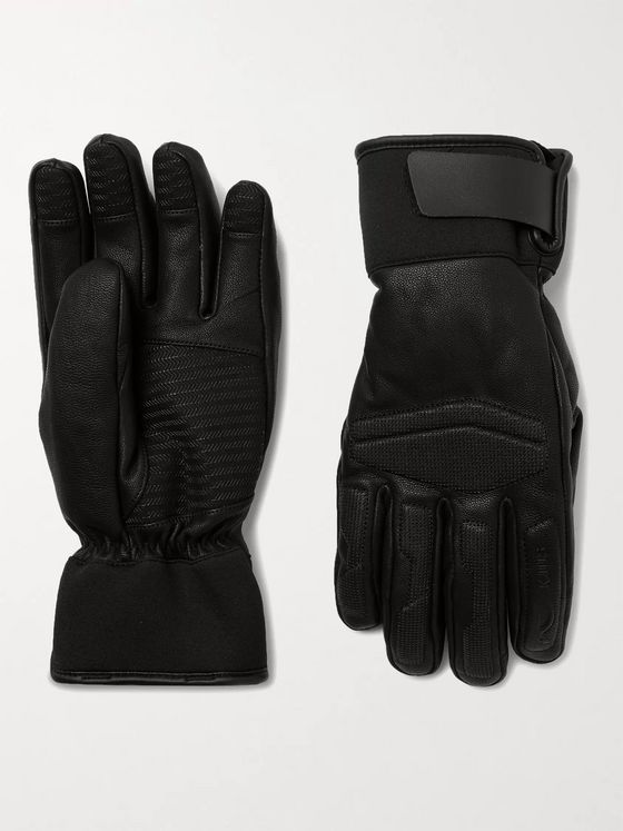 Kjus Performance Leather and Neoprene Ski Gloves