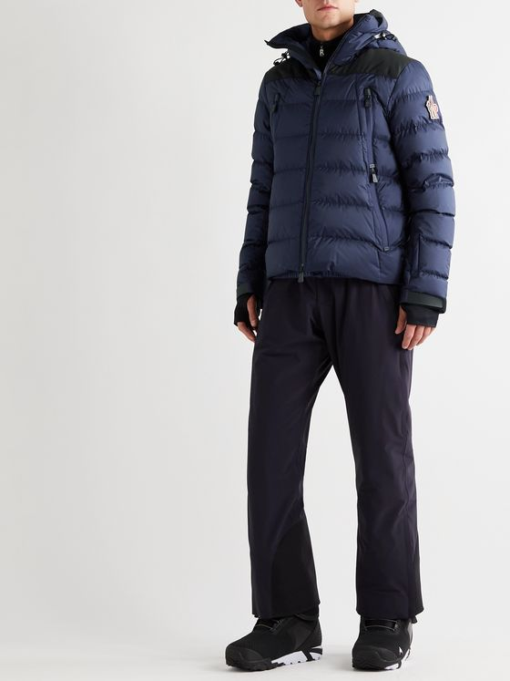 Moncler Grenoble Camurac Logo-Appliquéd Colour-Block Quilted Shell Down Hooded Ski Jacket