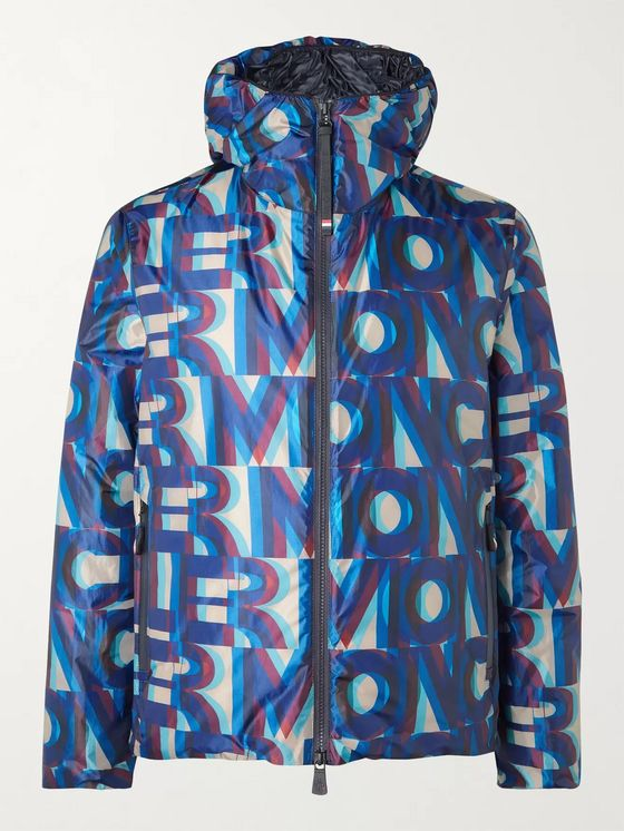 Moncler Grenoble Cillian Packable Logo-Print Hooded Micro-Ripstop Down Ski Jacket