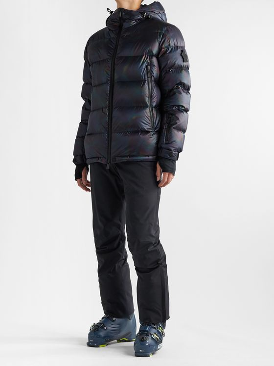 Moncler Grenoble Lignod Slim-Fit Quilted Iridescent Ripstop Down Ski Jacket
