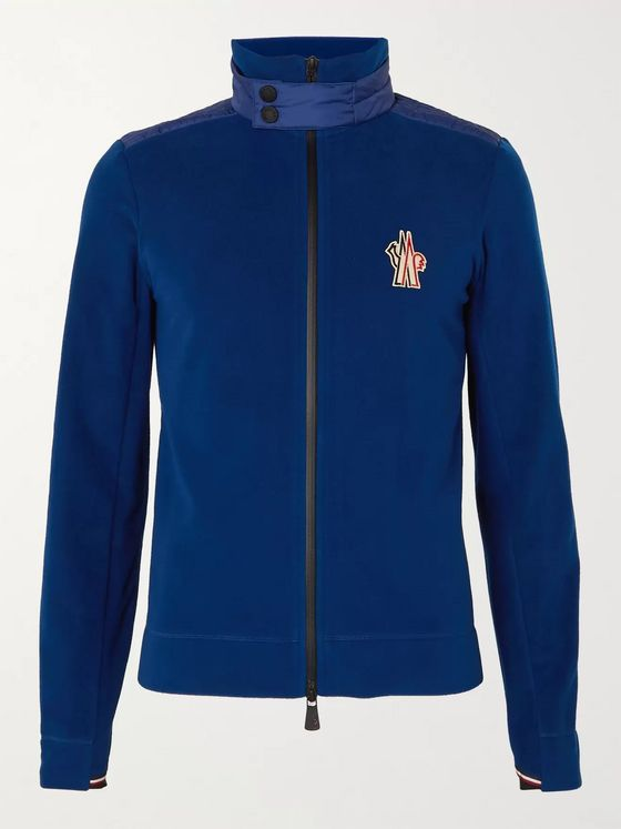 Moncler Grenoble Logo-Appliquéd Shell-Trimmed Fleece Zip-Up Ski Base Layer