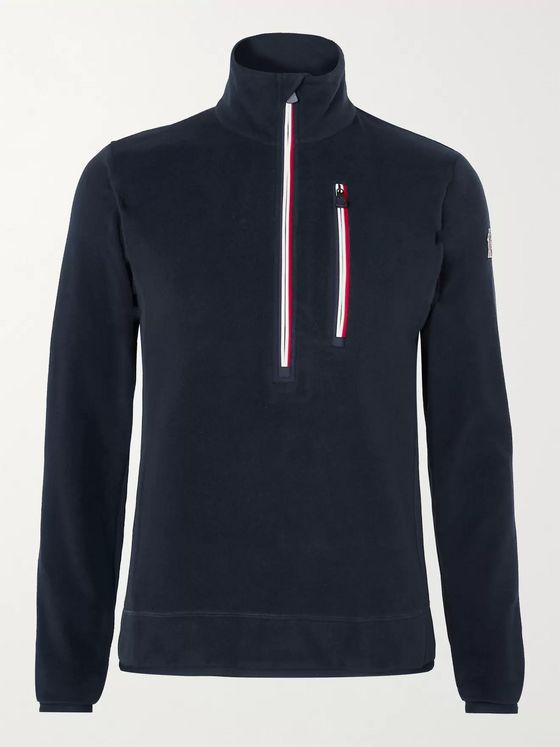 Moncler Grenoble Logo-Appliquéd Stretch-Fleece Half-Zip Ski Base Layer