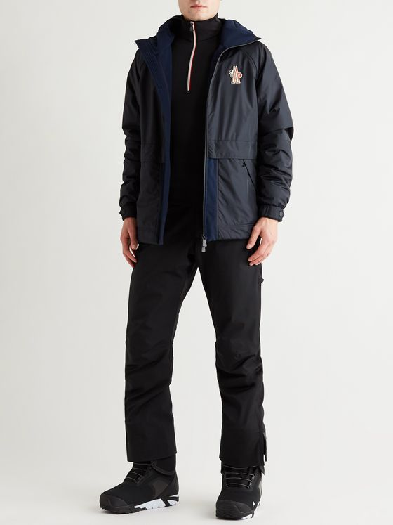 Moncler Grenoble Logo-Appliquéd Panelled Polartec Fleece-Trimmed Ski Jacket