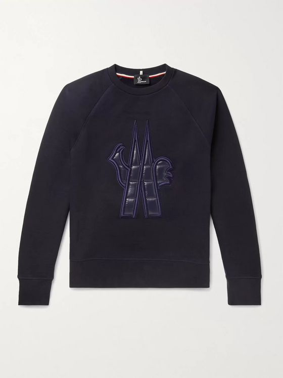 Moncler Grenoble Logo-Appliquéd Fleece-Back Cotton-Jersey Sweatshirt