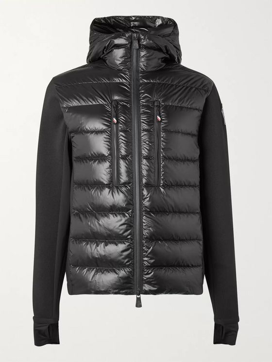 Moncler Grenoble Panelled Neoprene, Stretch-Knit and Quilted Shell Down Jacket