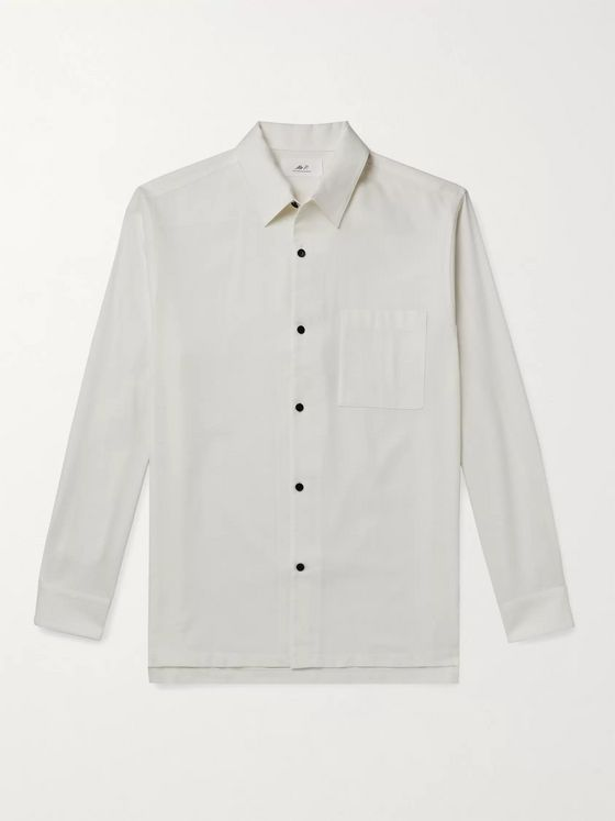 MR P. Cotton and Cashmere-Blend Shirt