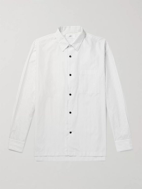 MR P. Striped Swiss Cotton Shirt