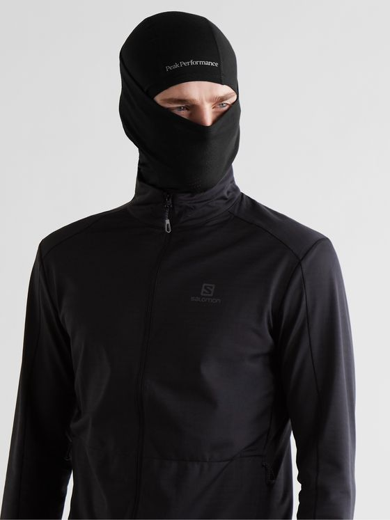 Peak Performance Logo-Print Merino Wool-Blend Balaclava