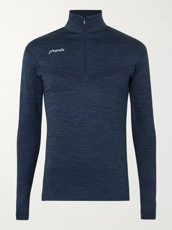 Phenix Beat Mélange Stretch-Jersey Half-Zip Ski Base Layer