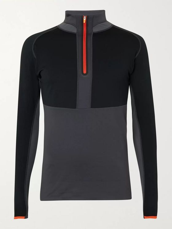 Phenix Respire Slim-Fit Mesh-Panelled Stretch-Jersey Half-Zip Ski Base Layer