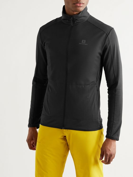 SALOMON Outrack Stretch-Jersey Zip-Up Mid-Layer