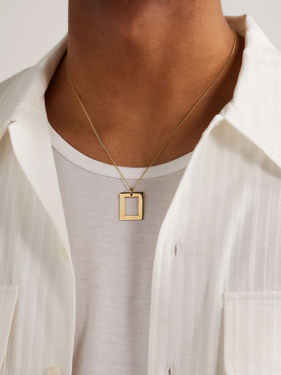 BLEUE BURNHAM The Window 9-Karat Gold Pendant Necklace