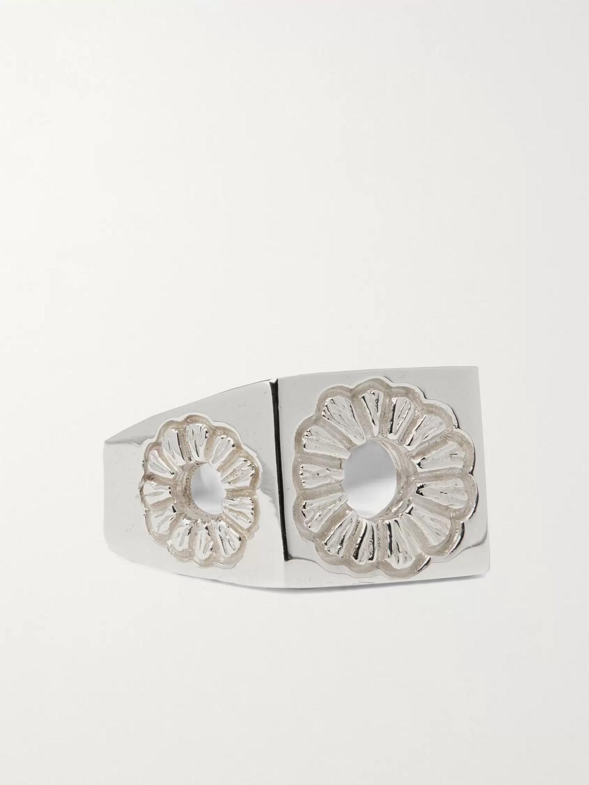 Bleue Burnham Marigold Sterling Silver Signet Ring