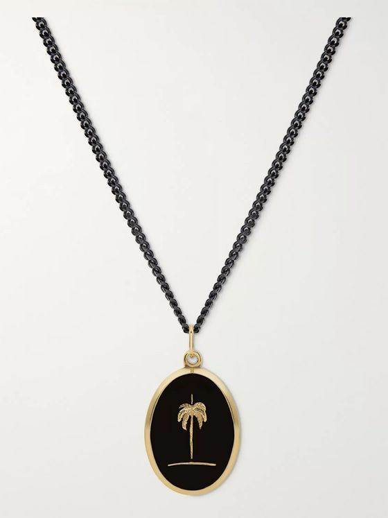 Miansai Palm Tree Gold Vermeil and Sterling Silver Necklace