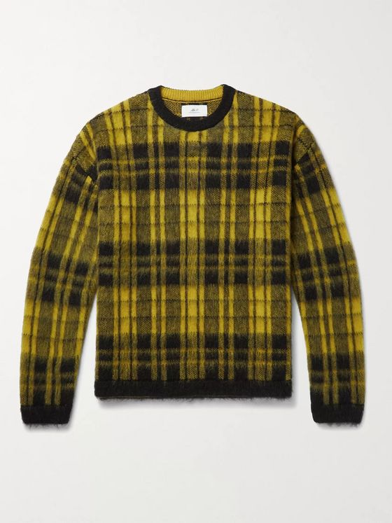 MR P. Checked Knitted Sweater